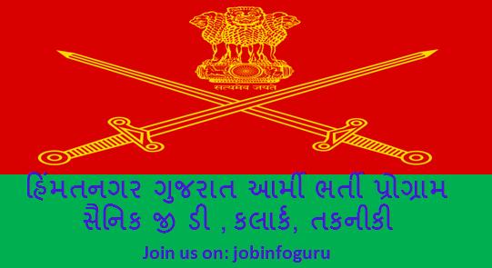 3000 Himatnagar Army Bharti 2019 (28 Aug to 09 Sept) online